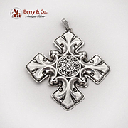 Christmas Cross Ornament Sterling Silver Reed and Barton 1976