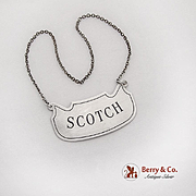 Apollo Sterling Silver Scotch Bottle Tag Label