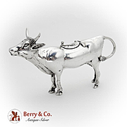 Figural Cow Creamer German Sterling Silver 1930