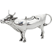Figural Cow Creamer German Sterling Silver 1930