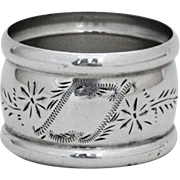 Small Engraved Napkin Ring Watson Co Sterling Silver 1900