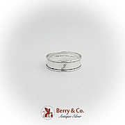 Gorham Sterling Silver Narrow Napkin Ring Monogrammed 1940
