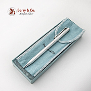 Tiffany Co Ball Point Pen Retractable T Clip Sterling Silver 1990