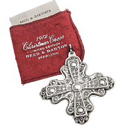 Reed And Barton Christmas Cross Ornament Sterling Silver 1972