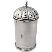 Dome Top Sugar Shaker Beaded Rim Base Gorham Coin Silver 1860