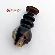 Figural Banded Agate Oval Wax Seal Blank