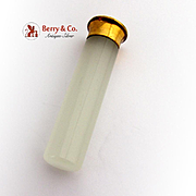 Bold Cylindrical Agate Handle Wax Seal Brass