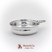 Vintage Porringer Baby Feeding Bowl Openwork Handle Webster Co Sterling Silver