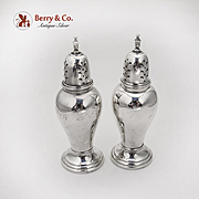 Lord Saybrook Salt Pepper Shakers International Sterling Silver 1940