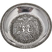 Indonesian Repousse Eagle Dish Sterling Silver