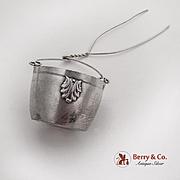 Applied Shells Tea Strainer Basket Spout Insert French 1st Standard 950 Silver 1910