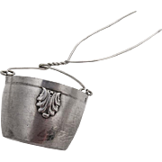 Applied Shells Tea Strainer Basket Spout Insert French 1st Standard 950 Silver 1910