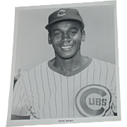 Chicago Cubs 1969 Ernie Banks Baseball Photo Original Press Photograph MLB 8 X 10 BW