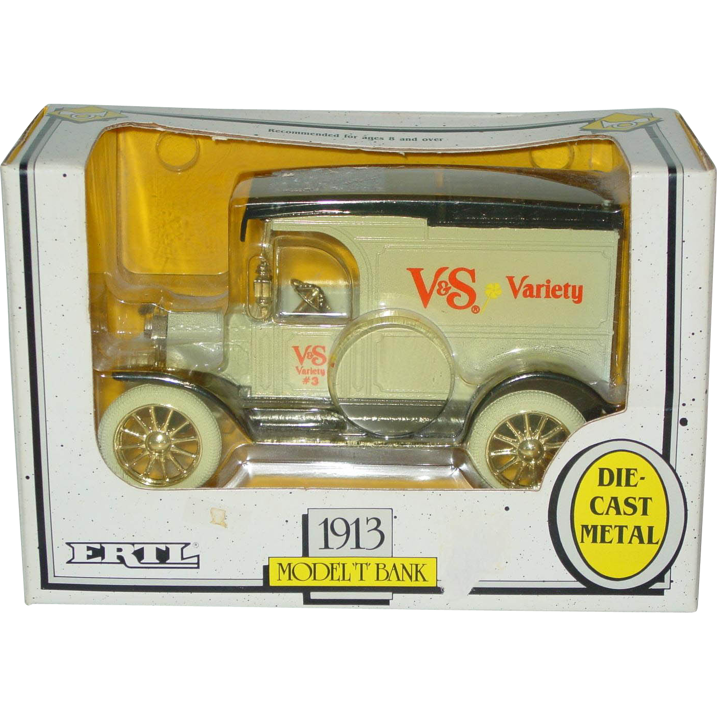 Ertl 1991 Advertising Bank 1913 Model T Truck V&S Variety Drug Store NIB