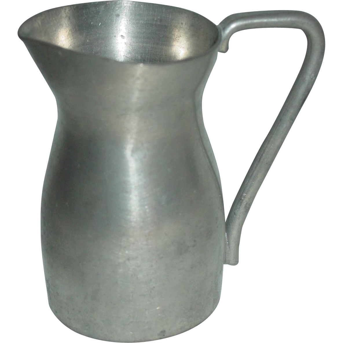 Vintage Pewter Measure Pitcher Peltro Ambrosiano Italy Miniature Creamer