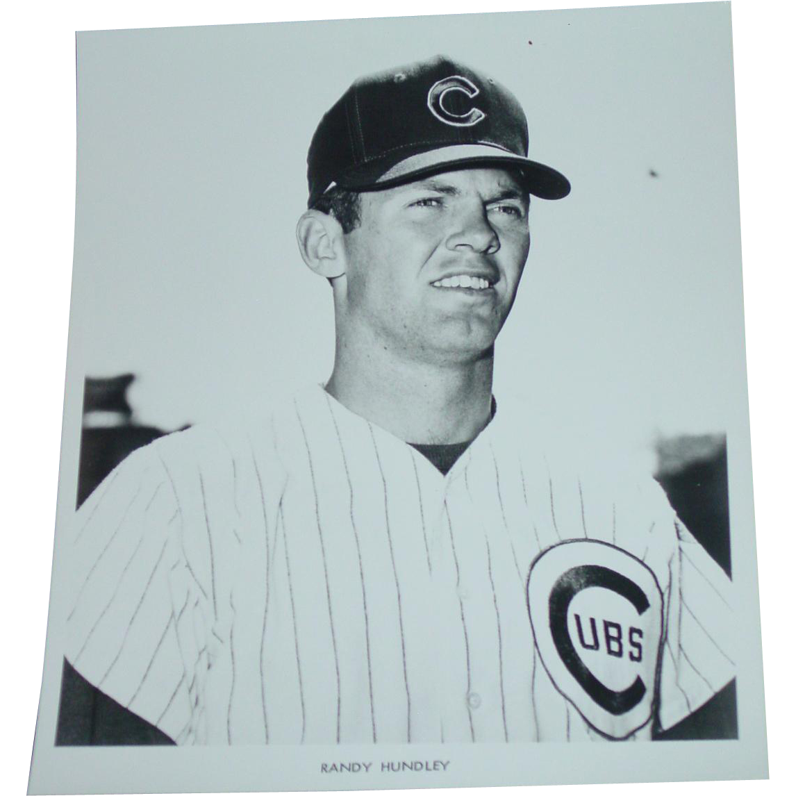 1969 Randy Hundley Original Chicago Cubs Baseball Press Photograph MLB 8 X 10 BW