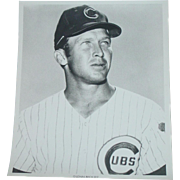 1969 Glen Beckert Original Chicago Cubs Baseball Press Photograph MLB 8 X 10 BW