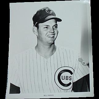 1969 Bill Hands Original Chicago Cubs Baseball Press Photograph MLB 8 X 10 BW