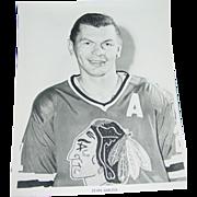 1971 Stan Mikita Photo Chicago Blackhawks Hockey NHL 8X10 BW Original Press Team Issue
