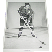 1971 Doug Jarrett Photo Chicago Blackhawks Hockey NHL 8X10 BW Original Press Team Issue