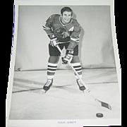 1971 Doug Jarrett Photo Chicago Blackhawks Hockey NHL 8X10 BW Original Press Team Issue