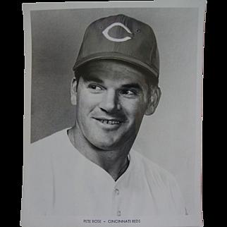 1970 Cincinnati Reds Peter Rose Original Baseball Press Photograph MLB 8 X 10 BW