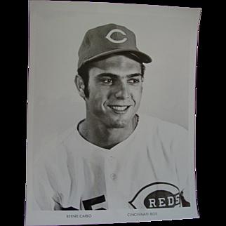 1970 Cincinnati Reds Bernie Carbo Original Baseball Press Photograph MLB 8 X 10 BW