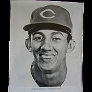 1970 Cincinnati Reds Dave Concepcion Original Baseball Press Photograph MLB 8 X 10 BW