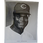 1970 Cincinnati Reds Lee May Original Baseball Press Photograph MLB 8 X 10 BW