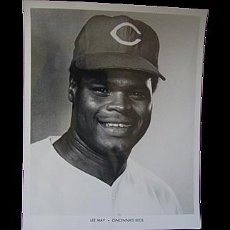 1970 Cincinnati Reds Lee May Original Baseball Press Photograph MLB 8 X 10 BW
