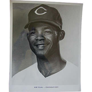 1970 Cincinnati Reds Bob Tolan Original Baseball Press Photograph MLB 8 X 10 BW