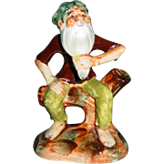 Vintage Ucagco China Figurine Hillbilly Old Man Beard 1950's Japan Excellent