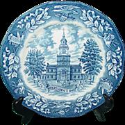 Vintage Avon 1976 Bicentennial Plate Representative Award Wedgwood Box