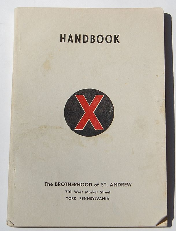 1952 The Brotherhood Of St. Andrew Handbook
