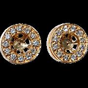 Vintage 14K Gold & Diamond Earring Jackets