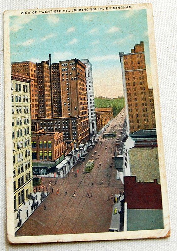 1919 vintage postcard view of twentieth st birmingham for Sell jewelry birmingham al