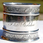 Vintage Silverplate Napkin Ring T. D. Belcher