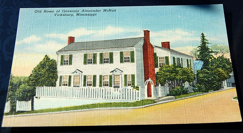 Old Home Of Governor Alexander McNutt Vicksburg Mississippi Postcard