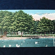 Lagoon In Highland Park Meridian Mississippi Postcard