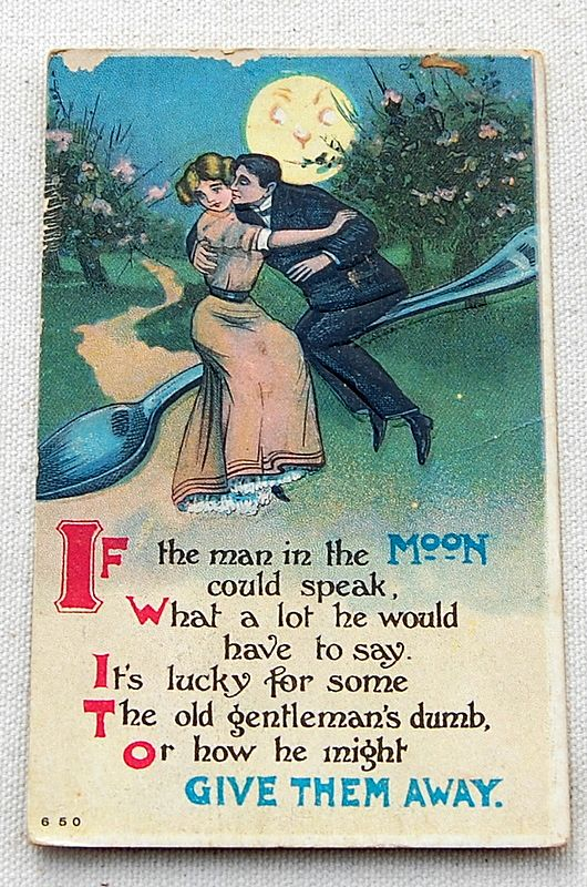 1912 Embossed Romantic Post Card