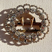 Vintage Brilliant Clear French Paste Buckle