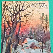1907 German  A Happy New Year Postcard