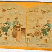 1870's In The Workshop Stereophotography Stereograph Series I - No. 1646