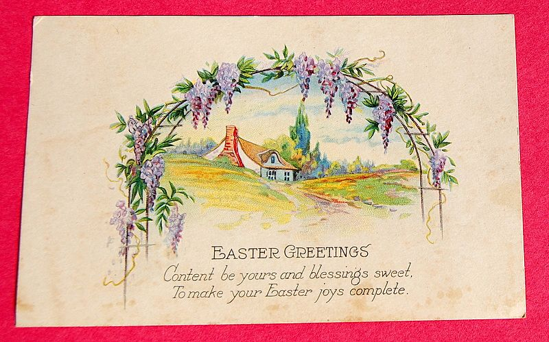 Art Deco Vintage Easter Post Card