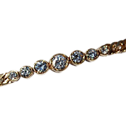 Vintage 14K Gold Diamond Bracelet