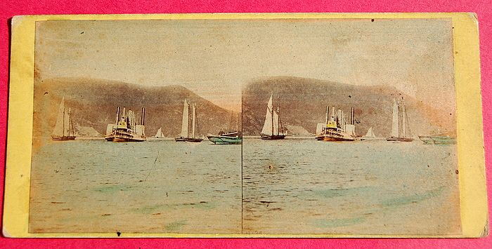 1865 Beauties Of The Hudson #4130 The Steamer Mary Power  Stereoview