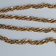 "Vintage 17"" Gold Filled Interlinking Chain/Necklace"