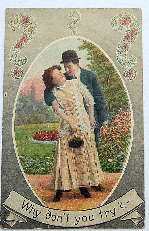 "1911 ""Why Don't You Try ?"" Postcard"