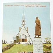 Vintage Memorial Church & Evangeline Statue