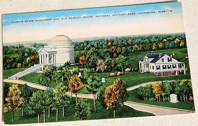 Vintage Postcard National Military Park Vicksburg Mississippi